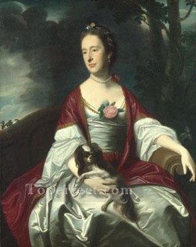 lan art - Mrs Jerathmael Bowers colonial New England Portraiture John Singleton Copley