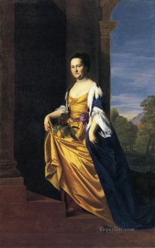 Portraiture Deco Art - Mrs Jeremiah Lee Martha Swett colonial New England Portraiture John Singleton Copley