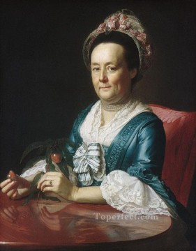 lan art - Mrs John Winthrop colonial New England Portraiture John Singleton Copley