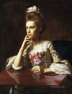 Portraiture Deco Art - Mrs Richard Skinner colonial New England Portraiture John Singleton Copley