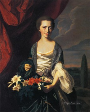 lan art - Mrs Woodbury Langdon Sarah Sherburne colonial New England Portraiture John Singleton Copley