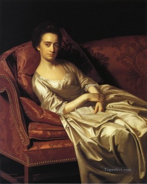 Portraiture Deco Art - Portrait of a Lady colonial New England Portraiture John Singleton Copley