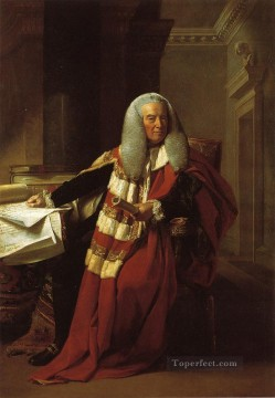Portraiture Deco Art - William Murray 1st Earl of Mansfield colonial New England Portraiture John Singleton Copley