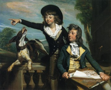 Charles Oil Painting - Charles Callis Western and His Brother Shirley Western colonial New England Portraiture John Singleton Copley