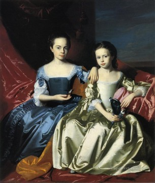 mary Painting - Mary and Elizabeth Royall colonial New England Portraiture John Singleton Copley