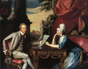 New Deco Art - Mr and Mrs Ralph Izard Alice Delancey colonial New England Portraiture John Singleton Copley