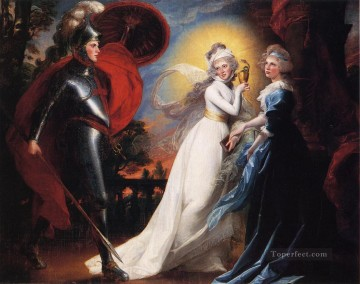 Red Art - The Red Cross Knight colonial New England Portraiture John Singleton Copley