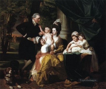 Sir William Pepperrell and Family colonial New England John Singleton Copley Oil Paintings