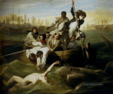 Brrok Watson And The Shark colonial New England John Singleton Copley Oil Paintings