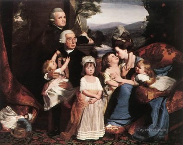 Family Painting - The Copley Family colonial New England Portraiture John Singleton Copley
