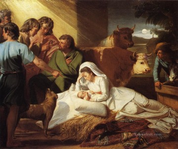The Nativity colonial New England John Singleton Copley Oil Paintings