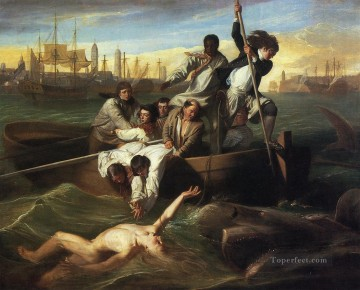 colonial Art Painting - Watson and the Shark colonial New England John Singleton Copley