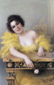 young Art - Portrait of a Young Woman woman Vittorio Matteo Corcos