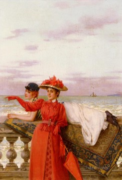 Sea Painting - Matteo Looking Out To Sea woman Vittorio Matteo Corcos