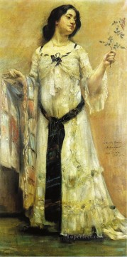 Lovis Art Painting - Portrait of Charlotte Berend in a White Dress Lovis Corinth