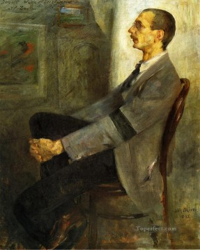 Walter Works - Portrait of the Painter Walter Leistilow Lovis Corinth