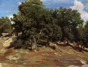 romantic romanticism Painting - Fontainebleau Black Oaks of Bas Breau plein air Romanticism Jean Baptiste Camille Corot