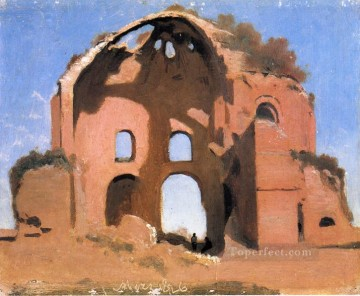 Temple of Minerva Medica Rome plein air Romanticism Jean Baptiste Camille Corot Oil Paintings