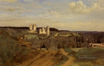 romantic romanticism Painting - View of Pierrefonds plein air Romanticism Jean Baptiste Camille Corot
