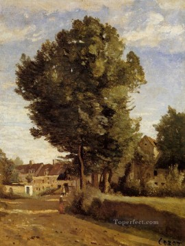 romantic romantism Painting - A Village near Beauvais plein air Romanticism Jean Baptiste Camille Corot