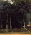 Fontainebleau the Bas Breau Road plein air Romanticism Jean Baptiste Camille Corot