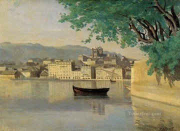 romantic romantism Painting - Geneva View of Part of the City plein air Romanticism Jean Baptiste Camille Corot