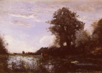 Marais De Cuicy Pres Douai plein air Romanticism Jean Baptiste Camille Corot Oil Paintings