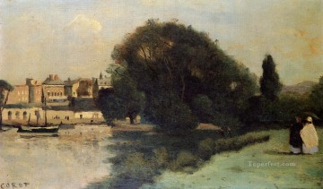 London Art - Richmond near London plein air Romanticism Jean Baptiste Camille Corot