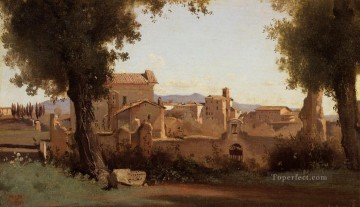 romantic romantism Painting - Rome View from the Farnese Gardens Morning plein air Romanticism Jean Baptiste Camille Corot
