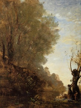 romantic romanticism Painting - The Happy Isle plein air Romanticism Jean Baptiste Camille Corot