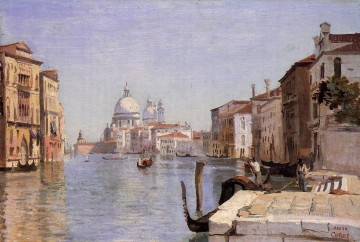 Della Painting - Venice View of Campo della Carita from the Dome of the Salute plein air Romanticism Jean Baptiste Camille Corot