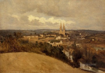 romantic romanticism Painting - View of Saint Lo plein air Romanticism Jean Baptiste Camille Corot