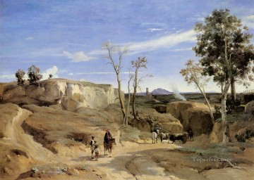 Romanticism Art Painting - La Cervara the Roman Countryside plein air Romanticism Jean Baptiste Camille Corot