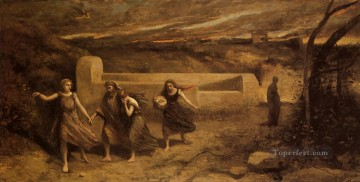 romantic romanticism Painting - The Destruction of Sodom plein air Romanticism Jean Baptiste Camille Corot