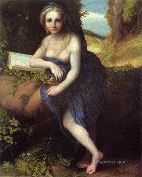 Antonio Allegri The Magdalene Renaissance Mannerism Antonio da Correggio Oil Paintings