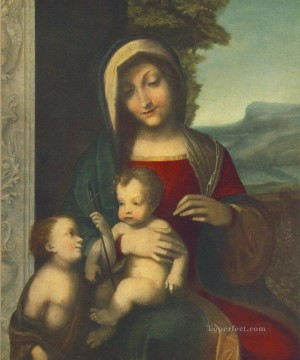 Madonna Renaissance Mannerism Antonio da Correggio Oil Paintings