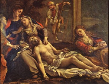 Antonio da Correggio Painting - Deposition From The Cross Renaissance Mannerism Antonio da Correggio