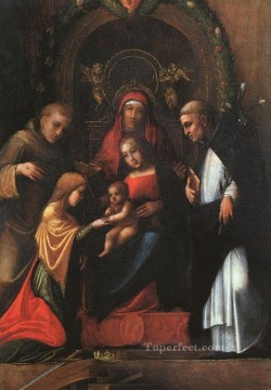 renaissance Painting - The Mystic Marriage Of St Catherine Renaissance Mannerism Antonio da Correggio