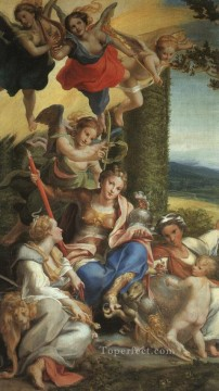 Allegory Of Virtue Renaissance Mannerism Antonio da Correggio Oil Paintings