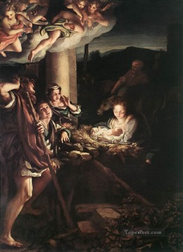 renaissance Painting - Nativity Holy Night Renaissance Mannerism Antonio da Correggio