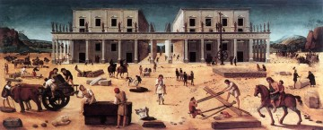 renaissance Painting - The Building of a Palace 1515 Renaissance Piero di Cosimo