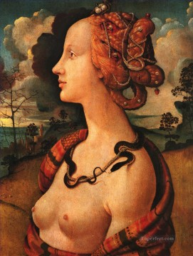 Portrait of Simonetta Vespucci 1480 Renaissance Piero di Cosimo Oil Paintings