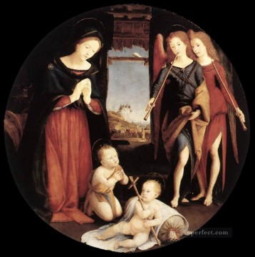 Piero di Cosimo Painting - The Adoration of the Christ Child Renaissance Piero di Cosimo