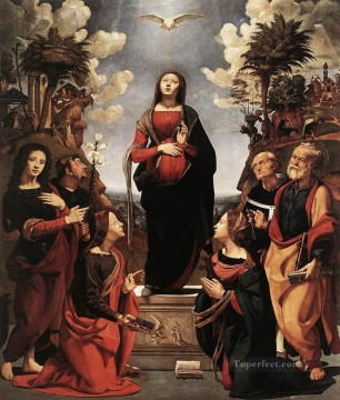 Piero di Cosimo Painting - Immaculate Conception with Saints Renaissance Piero di Cosimo