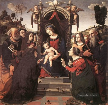 Mystical Marriage of St Catherine of Alexandria Renaissance Piero di Cosimo Oil Paintings