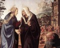 The Visitation with Sts Nicholas and Anthony 1489 dt1 Renaissance Piero di Cosimo