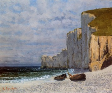 Cliffs Art - A Bay with Cliffs Realist painter Gustave Courbet