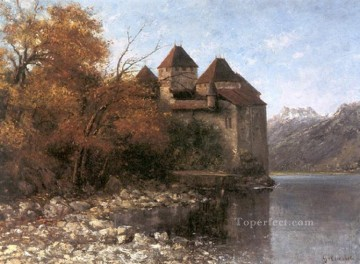 Chateau de Chillon Realist painter Gustave Courbet Oil Paintings