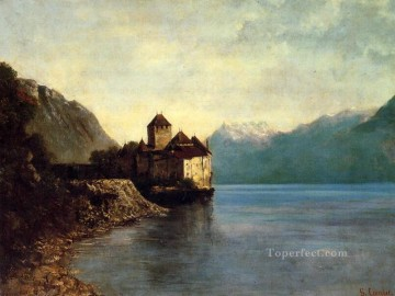 Chateau du Chillon Realist painter Gustave Courbet Oil Paintings
