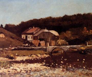 La Ferme De Bonnevaux Realist painter Gustave Courbet Oil Paintings